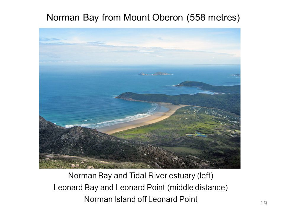 Norman Bay from Mount Oberon (558 metres)