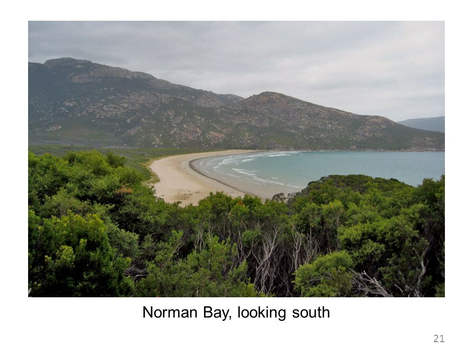 Norman Bay, looking south