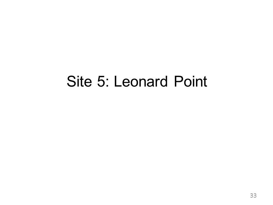 Site 5: Leonard Point