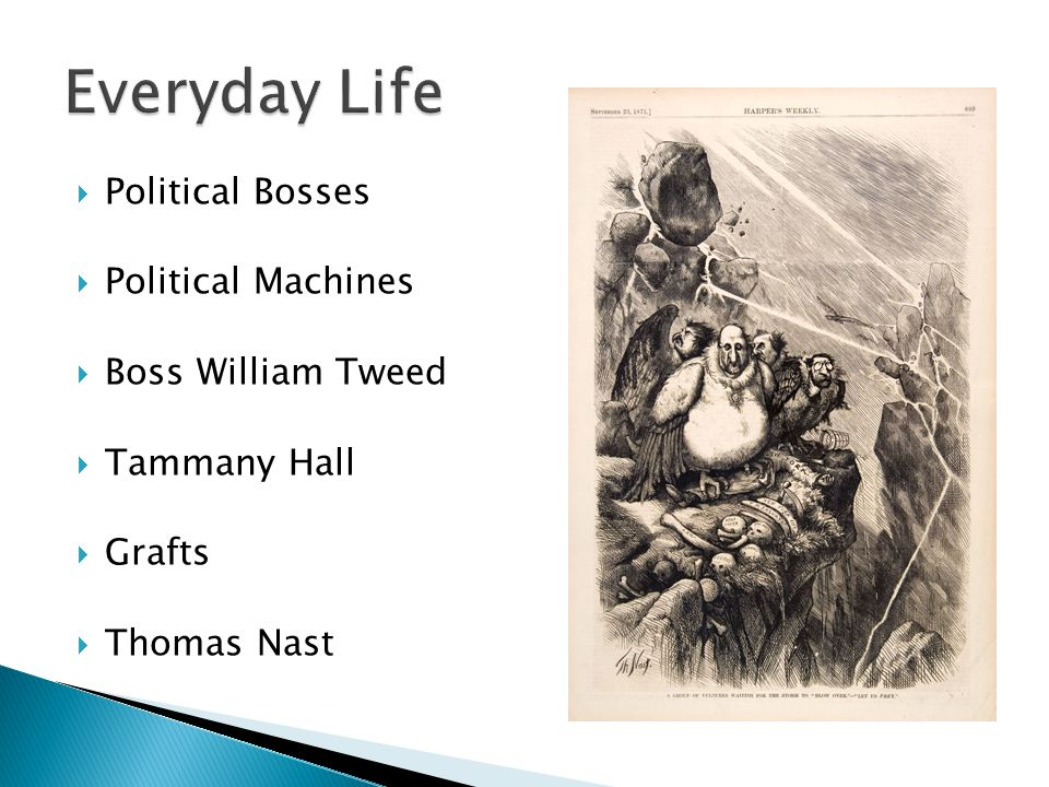 Everyday Life Political Bosses Political Machines Boss William Tweed