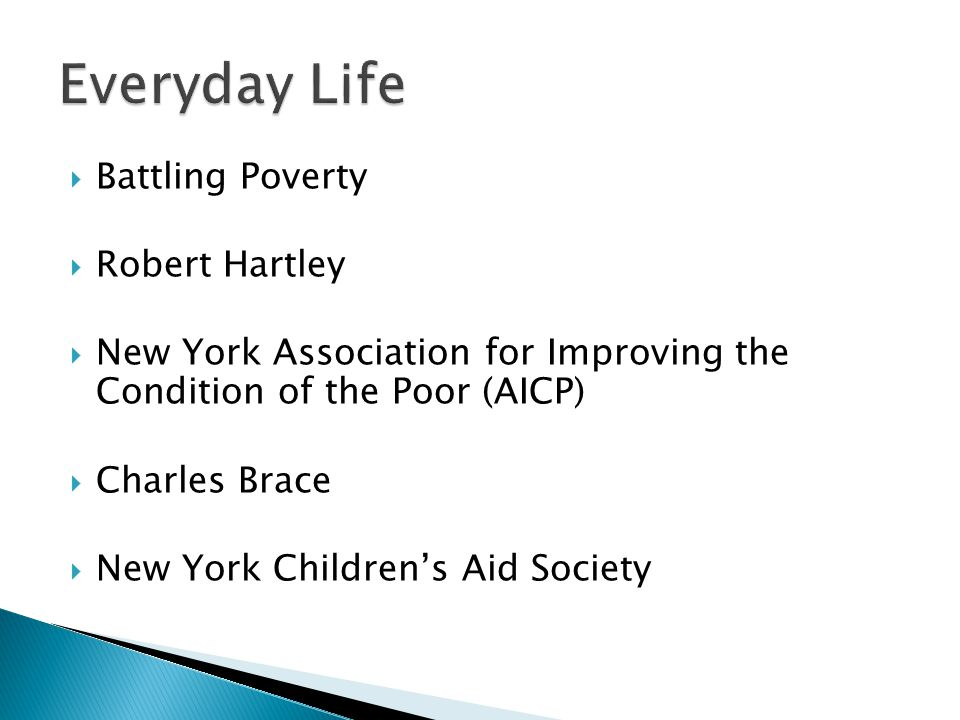 Everyday Life Battling Poverty Robert Hartley