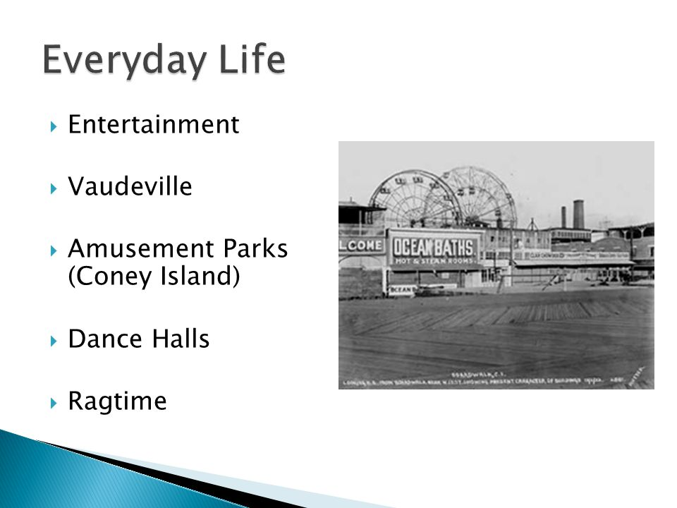 Everyday Life Entertainment Vaudeville Amusement Parks (Coney Island)