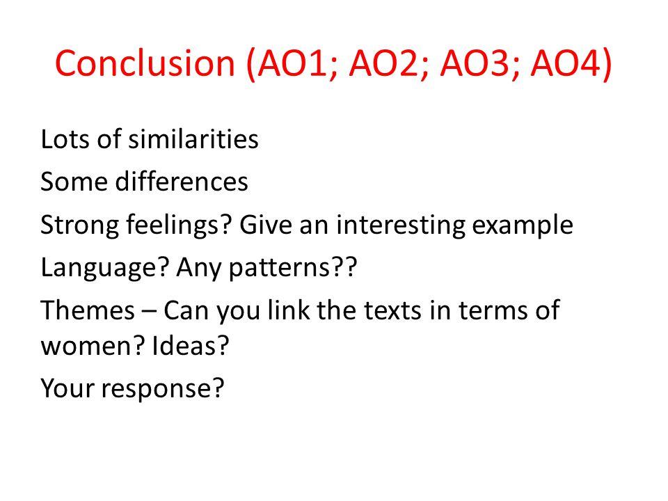 Conclusion (AO1; AO2; AO3; AO4)