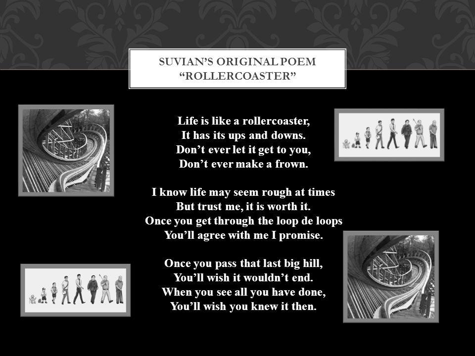 Suvian's original poem rollercoaster