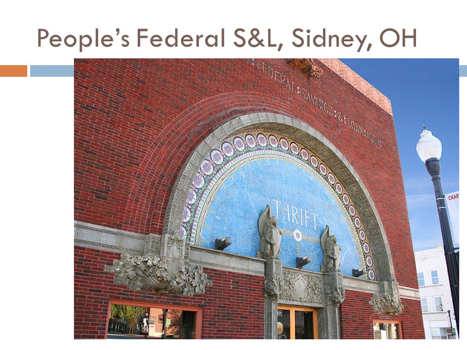 People's Federal S&L, Sidney, OH