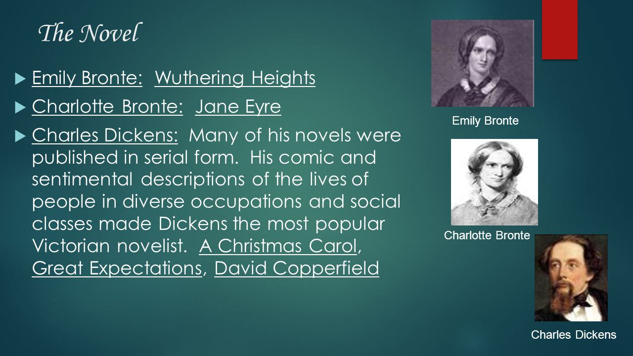 The Novel Emily Bronte: Wuthering Heights Charlotte Bronte: Jane Eyre