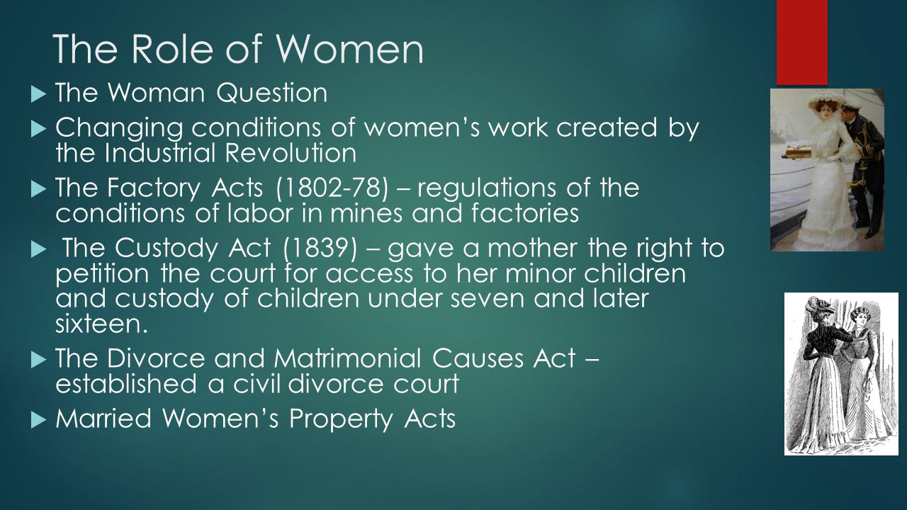 The Role of Women The Woman Question