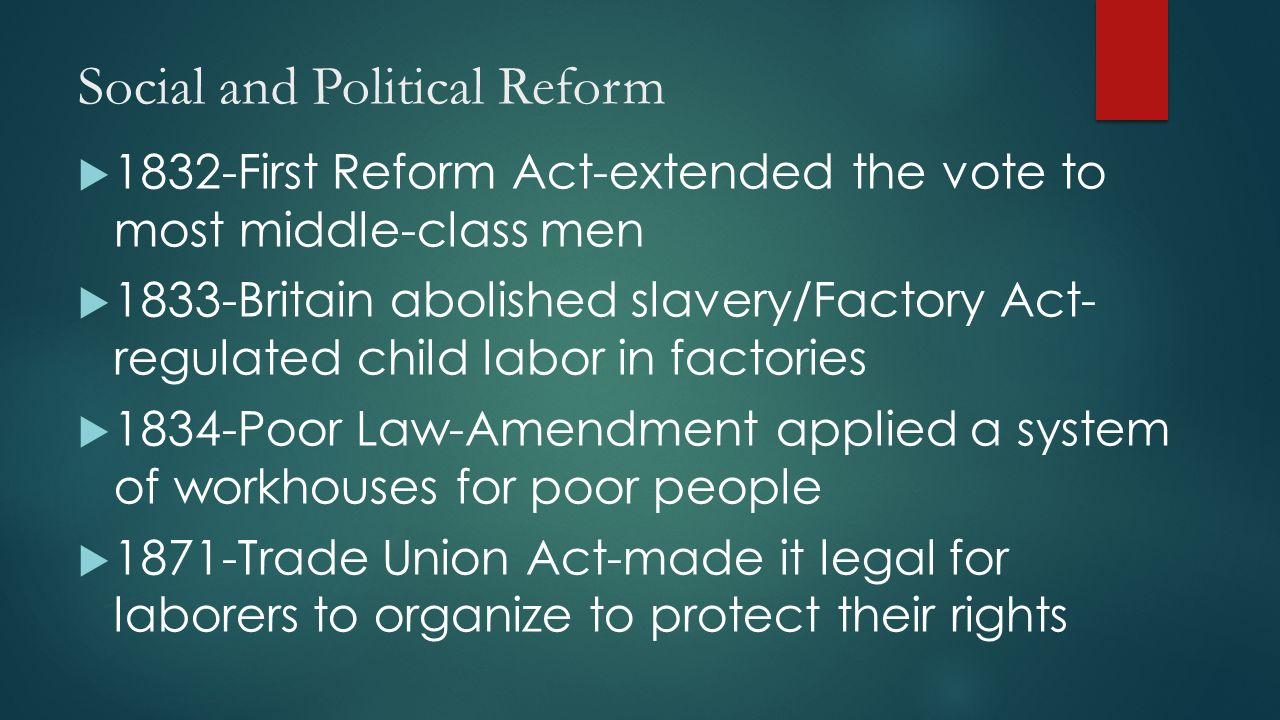 Social and Political Reform