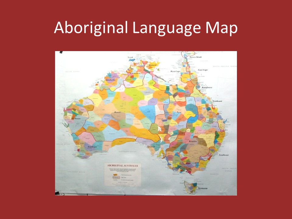 Aboriginal Language Map