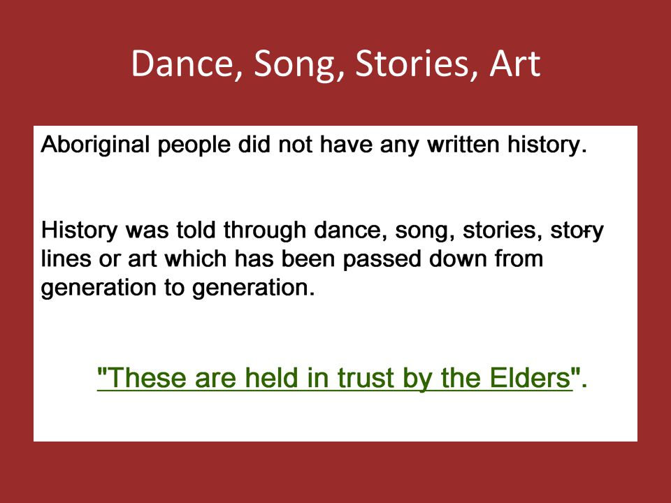 Dance, Song, Stories, Art