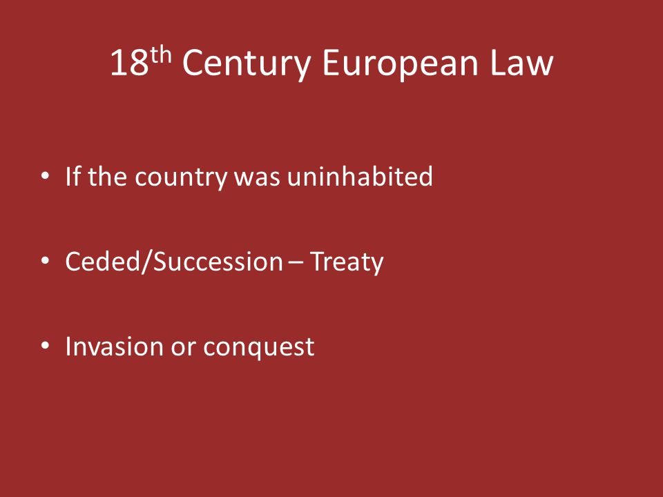 18th Century European Law