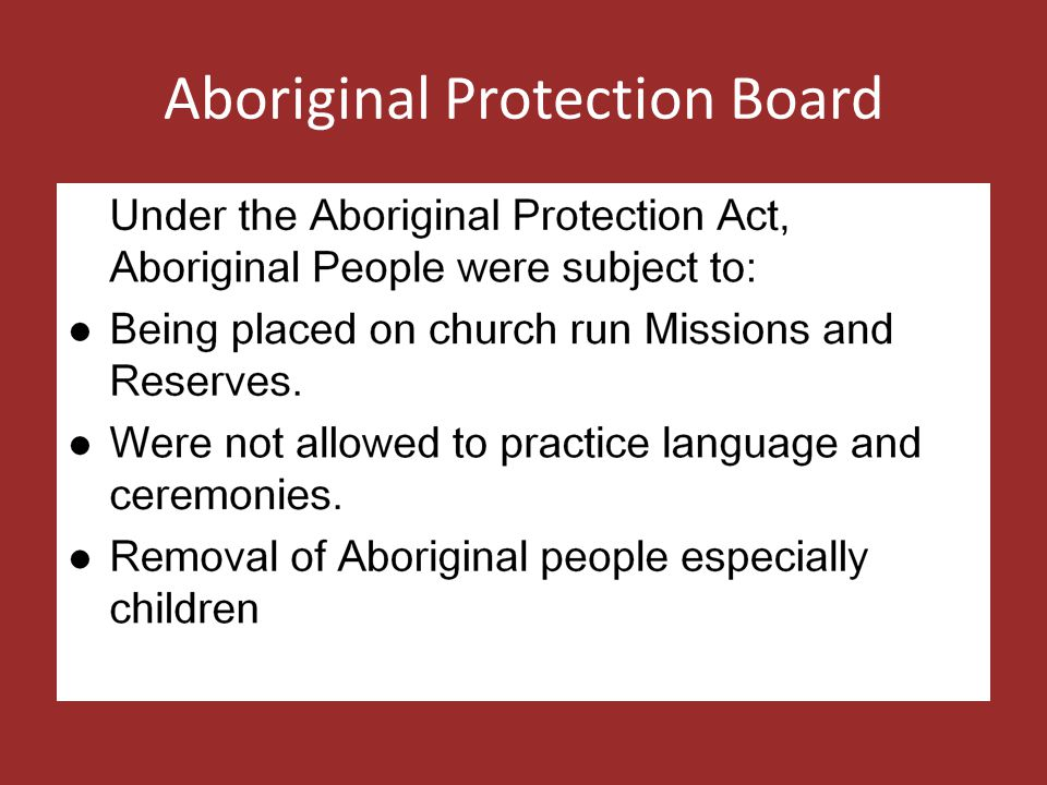 Aboriginal Protection Board
