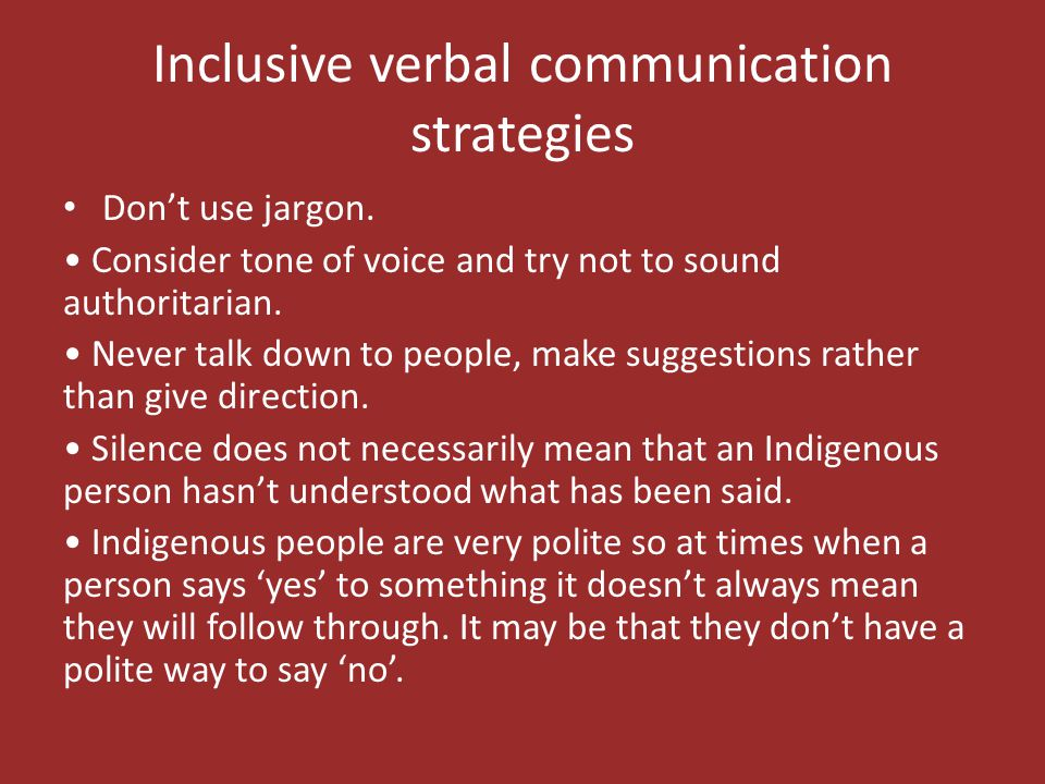 Inclusive verbal communication strategies