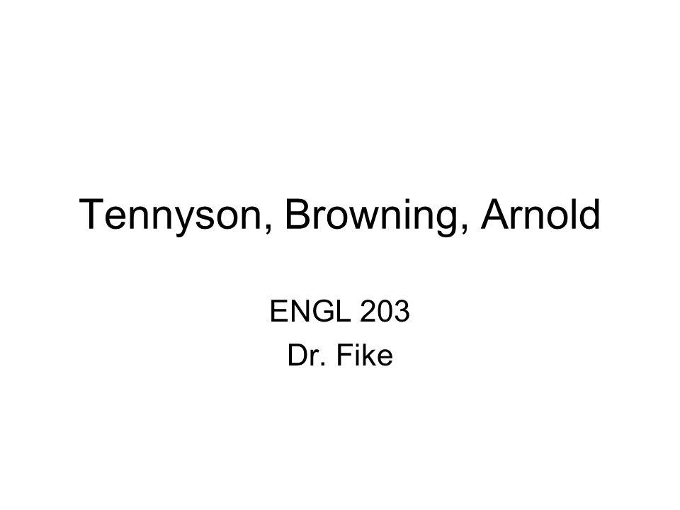 Tennyson, Browning, Arnold