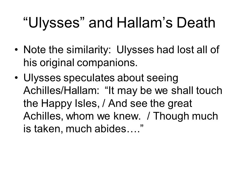 Ulysses and Hallam's Death