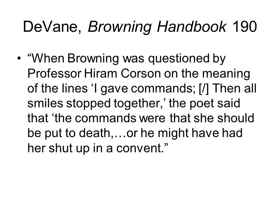 DeVane, Browning Handbook 190