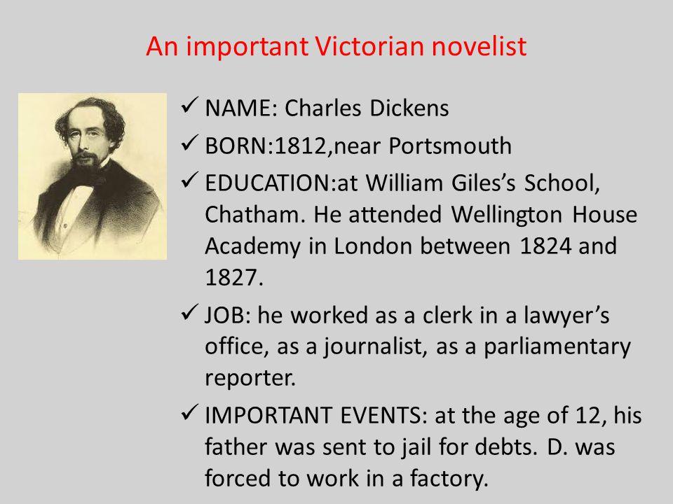 An important Victorian novelist
