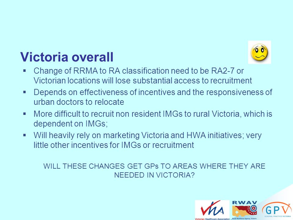 WILL THESE CHANGES GET GPs TO AREAS WHERE THEY ARE NEEDED IN VICTORIA