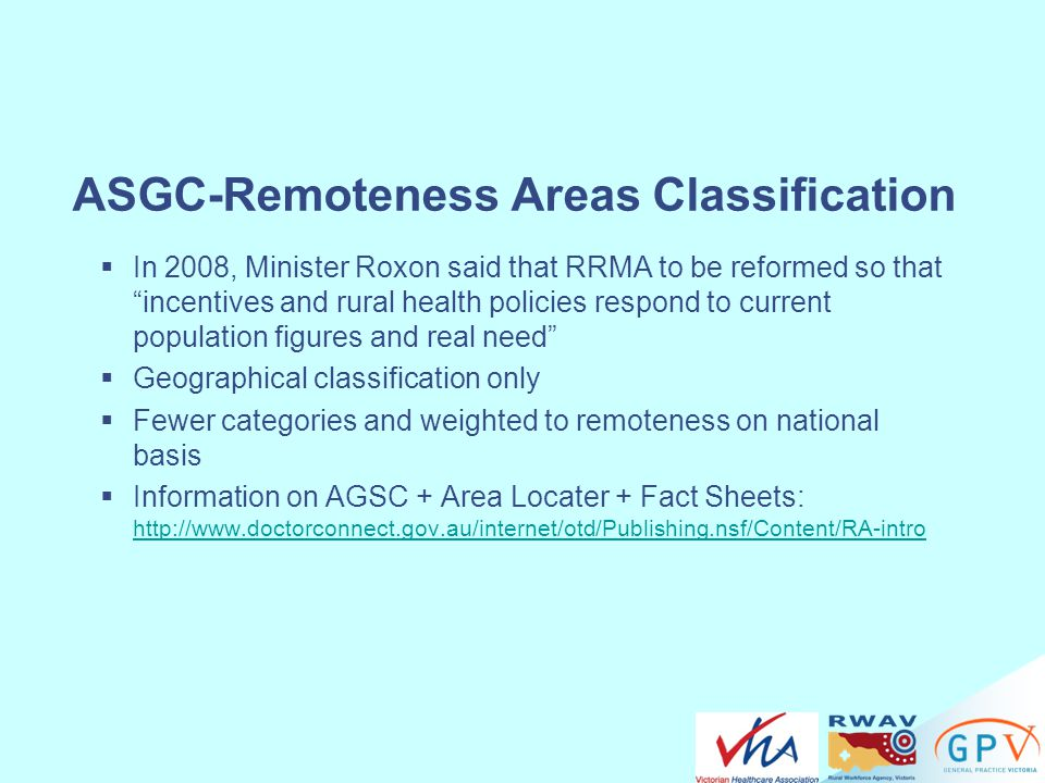 ASGC-Remoteness Areas Classification