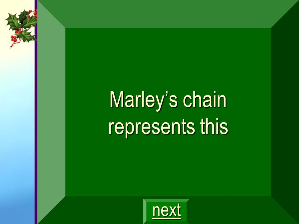 Marley's chain represents this