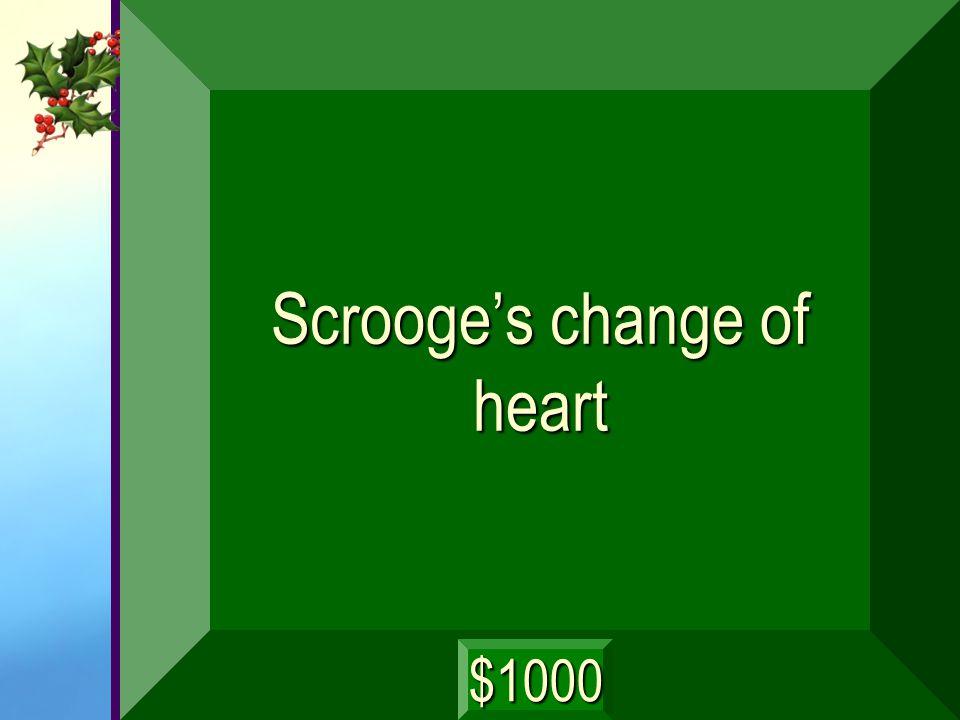 Scrooge's change of heart