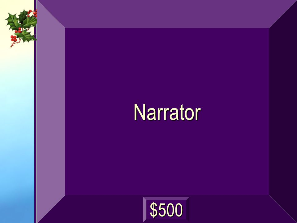 Narrator $500