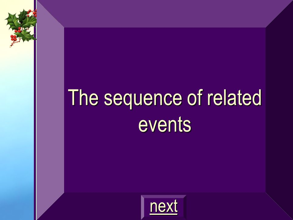 The sequence of related events