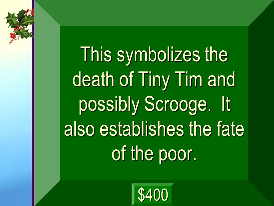 This symbolizes the death of Tiny Tim and possibly Scrooge