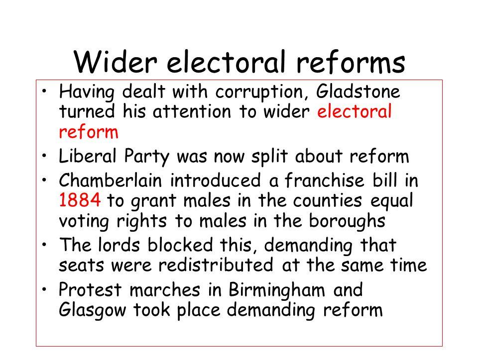 Wider electoral reforms