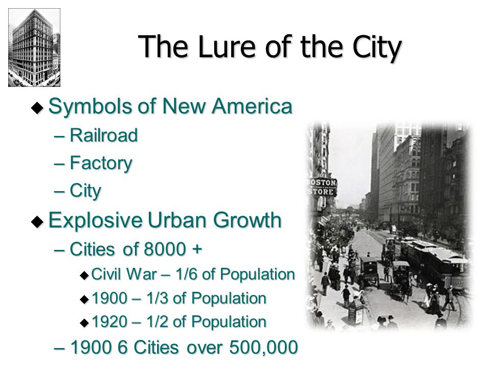 The Lure of the City Symbols of New America Explosive Urban Growth