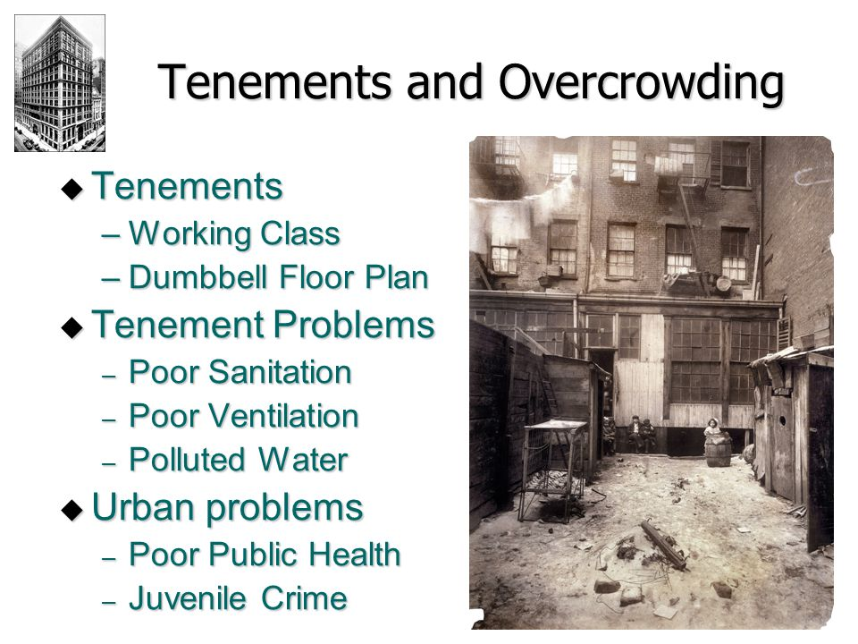 Tenements and Overcrowding