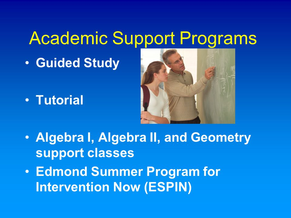Academic Support Programs