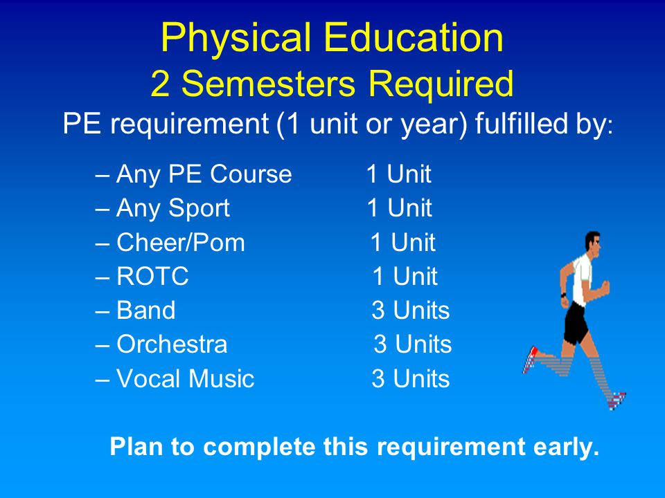 Physical Education 2 Semesters Required