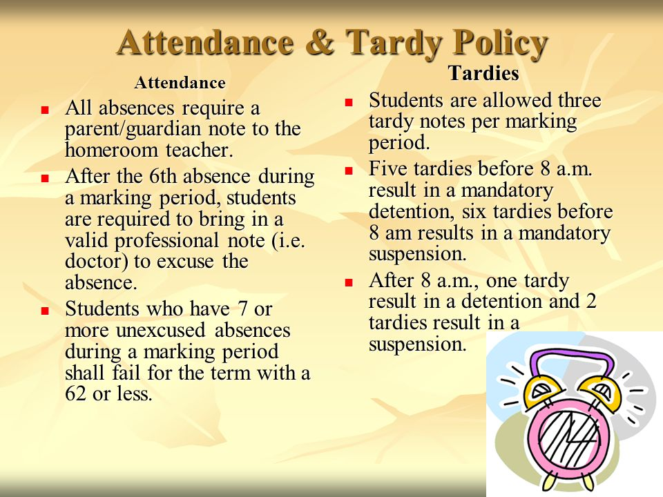 Attendance & Tardy Policy