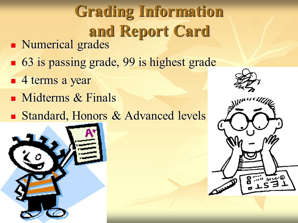 Grading Information and Report Card