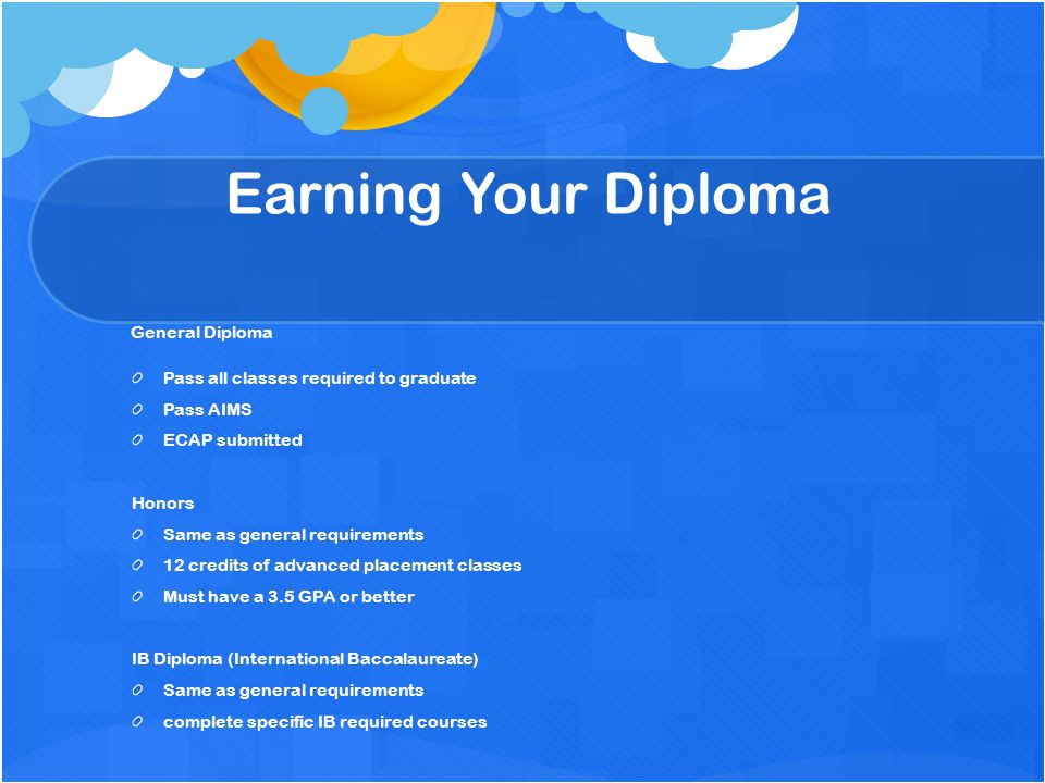 Earning Your Diploma General Diploma