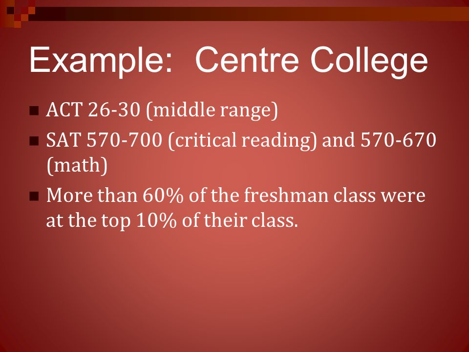 Example: Centre College