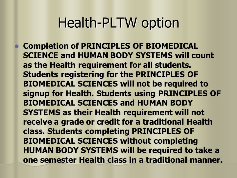 Health-PLTW option