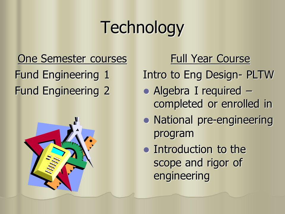One Semester courses Fund Engineering 1 Fund Engineering 2