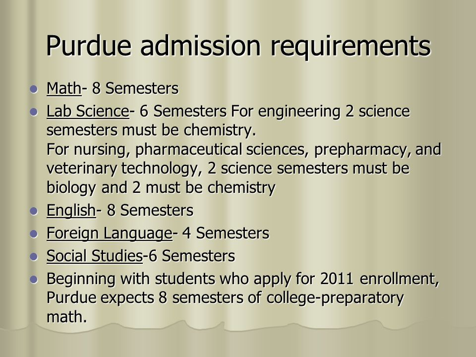Purdue admission requirements