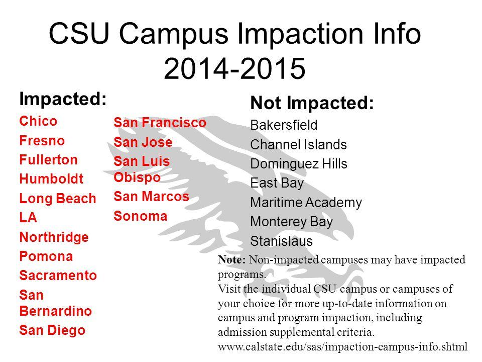 CSU Campus Impaction Info 2014-2015