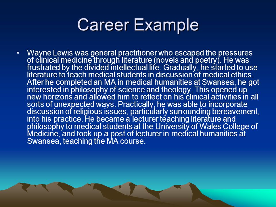Career Example