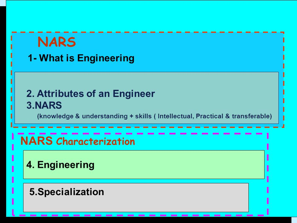 NARS NARS Characterization 1- What is Engineering