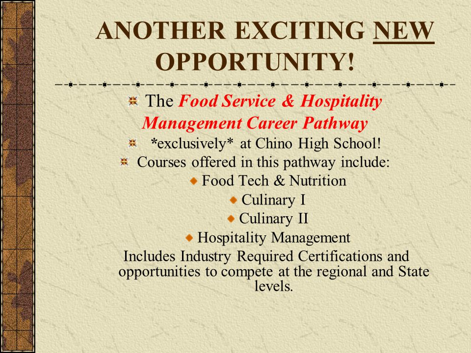 ANOTHER EXCITING NEW OPPORTUNITY!
