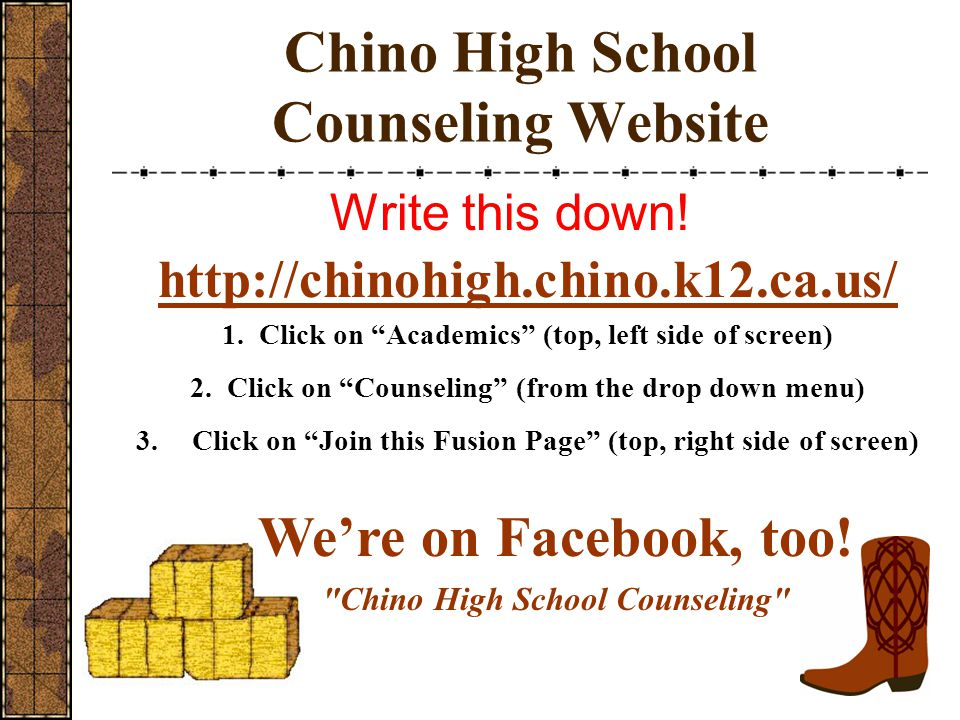 Chino High School Counseling Website
