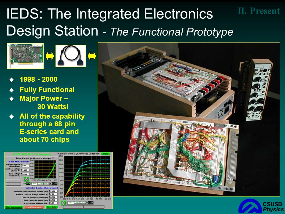 IEDS: The Integrated Electronics Design Station - The Functional Prototype