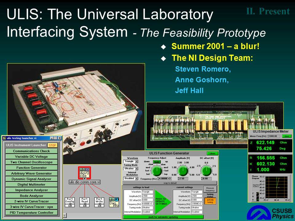 ULIS: The Universal Laboratory Interfacing System - The Feasibility Prototype