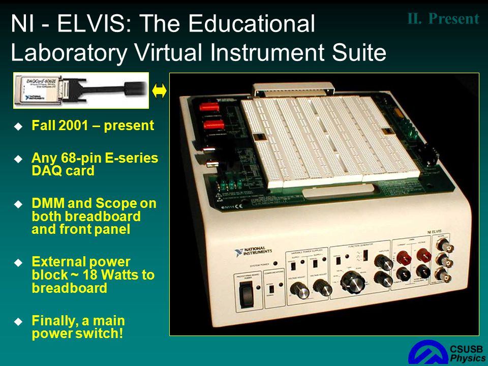 NI - ELVIS: The Educational Laboratory Virtual Instrument Suite