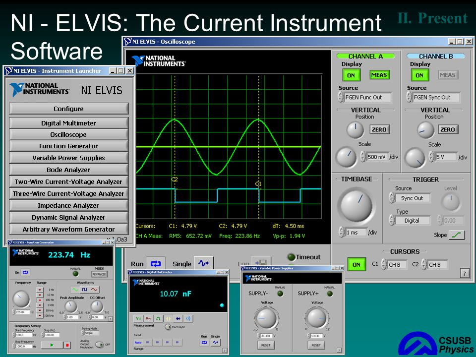 NI - ELVIS: The Current Instrument Software