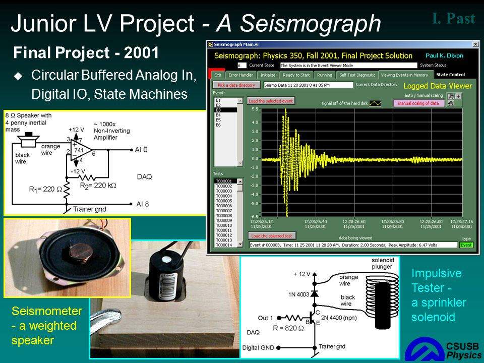 Junior LV Project - A Seismograph
